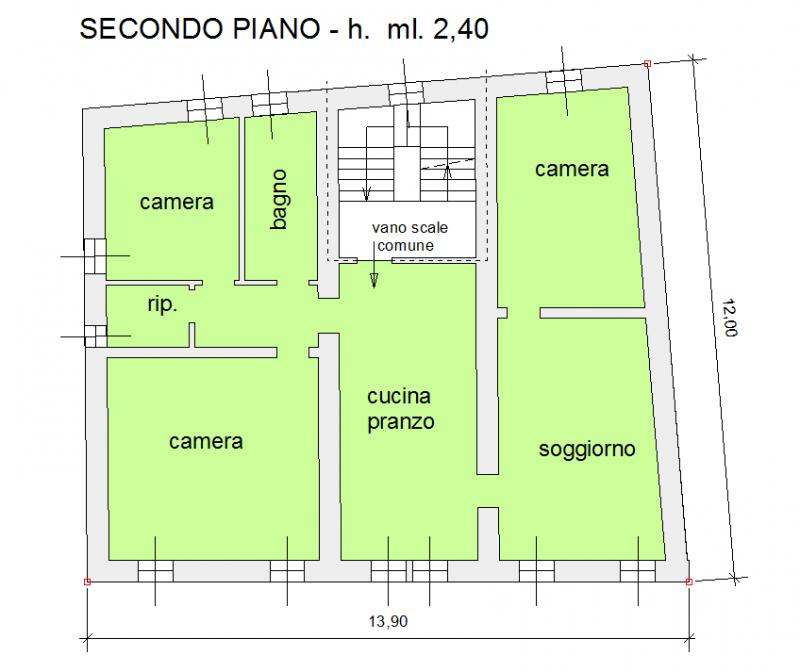 Appartamento tricamere in vendita a Ampezzo - Appartamento tricamere in vendita a Ampezzo