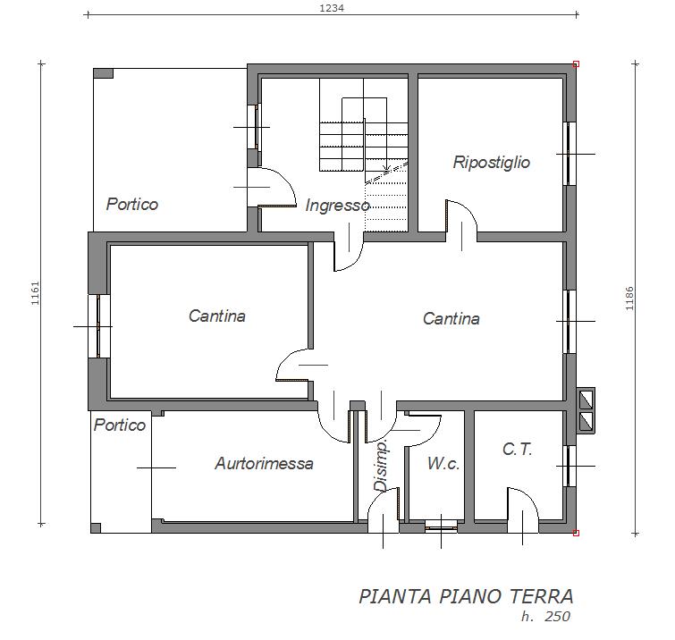 Casa tricamere in vendita a villa santina villa santina for Case in vendita con planimetrie