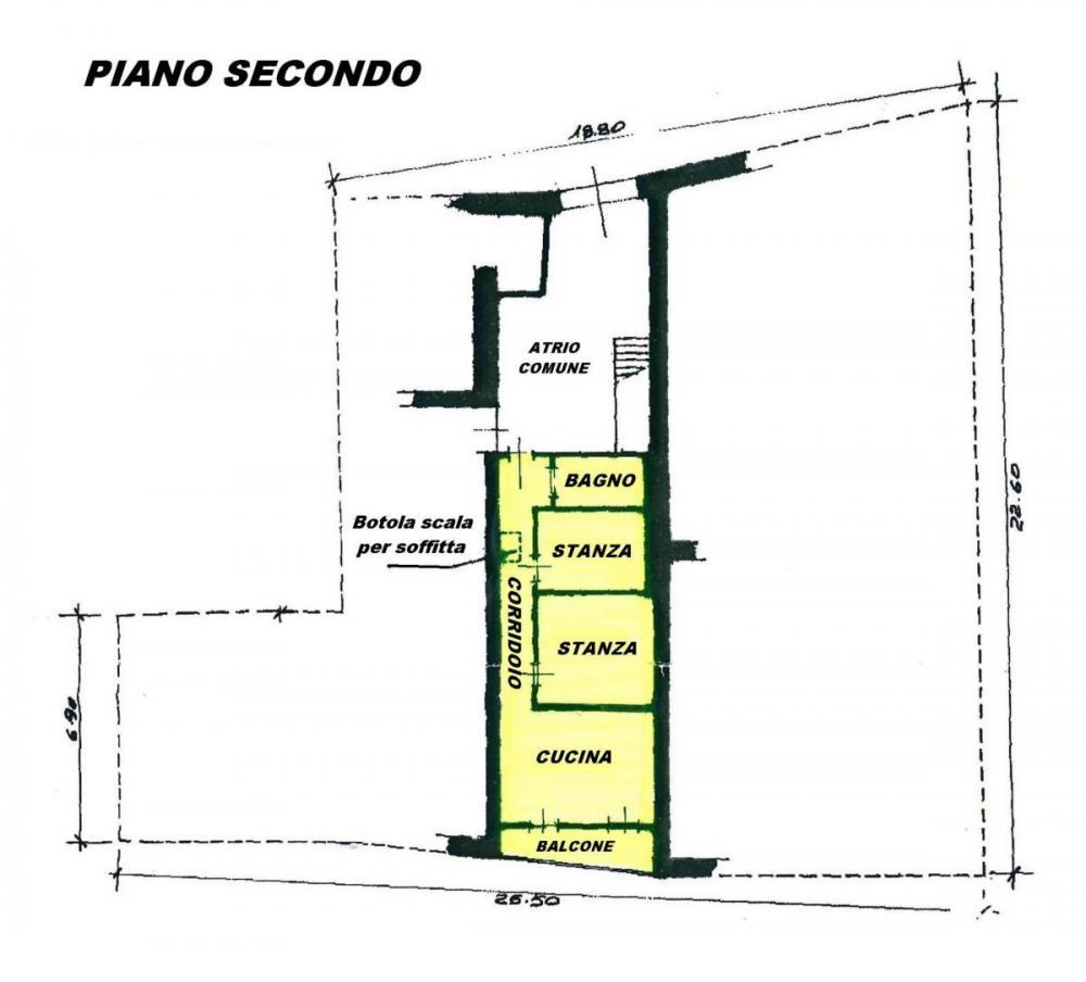 Appartamento quadrilocale in vendita a Roncone - Appartamento quadrilocale in vendita a Roncone