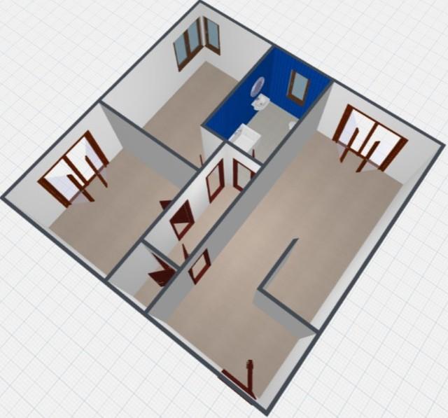 Rendering stato attuale - Appartamento bicamere in vendita a Spilimbergo