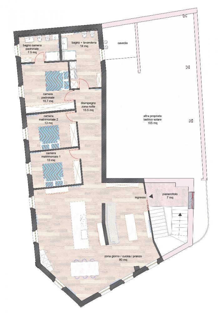 Appartamento tricamere a Udine - Appartamento tricamere a Udine
