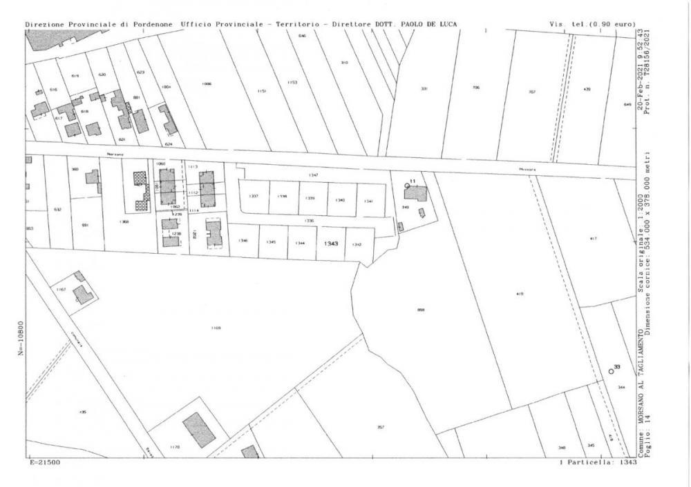 Terreno residenziale in vendita a Morsano al Tagliamento - Terreno residenziale in vendita a Morsano al Tagliamento