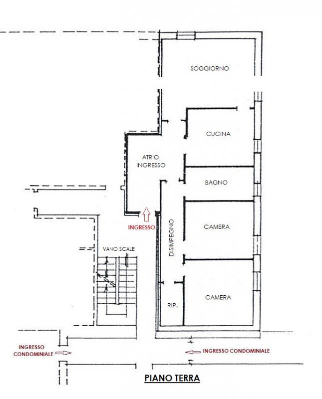 Cucina - Appartamento bicamere in vendita a Gemona del Friuli