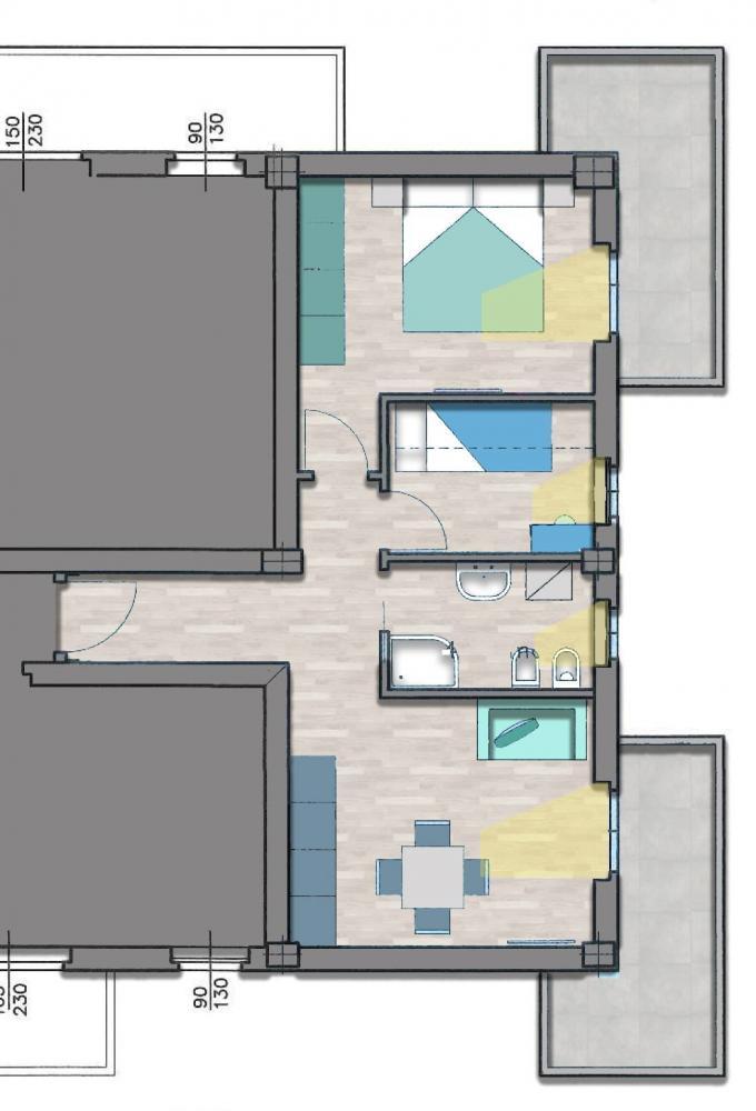 Appartamento trilocale in vendita a Porto San Giorgio - Appartamento trilocale in vendita a Porto San Giorgio